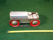 Vintage 1930 Rare Marx Wind-up Aluminum And Tin Litho Tractor For Parts Or Repair