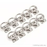 10 Stainless Steel 6mm Square Eye Plates W Ring 1/4 Marine 316 Ss Boat Rigging
