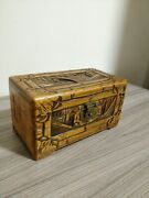 Antique Humidor From 1900s Hand Carved And Made Super Rare