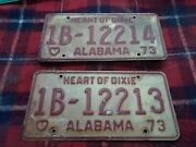1970and039s Alabama Heart Of Dixie License Plates Auto Car Vehicle Tags Pick Two