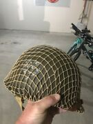 Us Wwii M1c Army Paratrooper Helmet And Liner