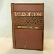 Rare Antique 1908 Tables Of Stone By Harold Begbie Doubleday Page And Company