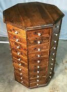 Awesome Revolving 80 Drawer General / Country Store Bolt And Parts Storage Cabinet