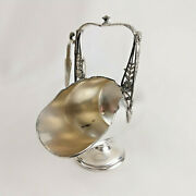 Vintage Reed And Barton Silver Plate Sugar Cube Scuttle With Tongs