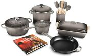 Le Creuset Signature Cast Iron 16-piece Cookware Set In Color Oyster.....new