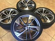 19 Fit Audi Rs7 A8 Style Replacement Rims Wheels Tires 255-35-19 Grey Machn'd