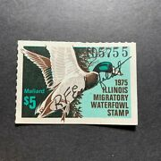 1975 Illinois - State Duck Stamp - Mint Og Nh Artist Signed First Of State