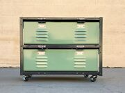 2 X 2 Double Wide Locker Basket Unit On Casters, Newly Fabricated To Order