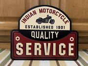 Indian Motorcycle Service Metal Chopper Chief Harley Davidson Vintage Style