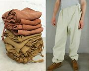 Vintage 1960s Cotton Canvas Japanese Style Army Work Chore Pants Various Colours