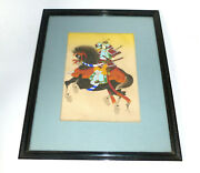 Japanese Picture About 1900 Fine Painting On Silk Samurai