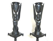 Seltene Candle Holders About 1860 Iron Candle Holder