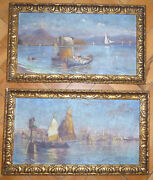 Two Pictures Sign Walter Helmrich 1932 Naples Venezia Italy Nk-9986