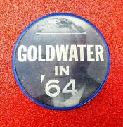 Vintage 1964 Barry Goldwater Presidential Campaign Lenticular Button