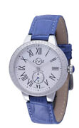 Gv2 By Gevril Womenand039s 9103 Astor Diamond Limited Edition Blue Leather Watch