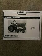 Woods Rotary Mower Owners Manual And Parts List Model 59c-2