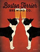 Boston Terry Brewing Co. By Ryan Fowler Vintage Ads Dog, Beer Print 11x14