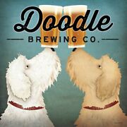 Doodle Beer Double Brewing Co By Ryan Fowler Vintage Ads Dog, Beer Print 12x12