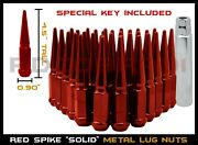20 Pc Dodge Charger Challenger Srt Hell Cat Demon Red Spike Lug Nuts M14x1.5