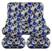 Full Set Front+rear Pixel Camo Blue Car Seat Covers Fits 1989-1998geo Tracker