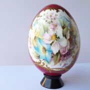 Porcelain Egg/easter Egg Hand Painted Russia About 1900 Al1222
