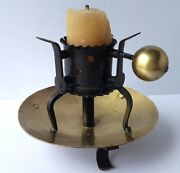 Rare Candle Holder/candle Holders, Brass, Iron, About 1850 Al937