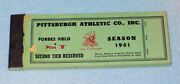 Vintage 1961 Pittsburgh Pirates Forbes Field Season Ticket Booklet,old Baseball