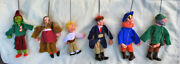Lot 6 X 6 Vintage 1980's Marionette String Wood Puppet Polish Poland Puppets