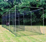 Batting Cage Net 10and039 X 12and039 X 60and039 42 Hdpe 60ply With Door Heavy Duty Baseball