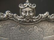 Jewelled Sterling Silver Chinoiserie Salver Footed Tray By Masriera And Carreras