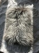 Made In Italy Finland Fox Fur Silver Fox. New With Tags Original 1075