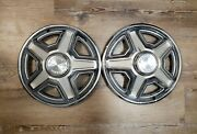 1969 69 Ford Mustang E 14 Wheel Hubcaps Oem Fomoco Set Of 2