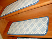 14 Step 9and039and039 X 25and039and039 +1 Runner 25and039and039 X 48and039and039- 63and039and039 Tufted Carpet Wool Stair Treads.