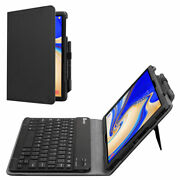 Leather Case And Bluetooth Cordless Keyboard Stand For Samsung Galaxy Tab S4 10.5