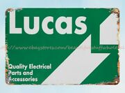 Lucas Quality Electrical Parts Accessories Metal Tin Antique Metal Signs Sale