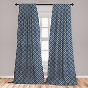 Surreal Abstract Microfiber Curtains 2 Panel Set Living Room Bedroom In 3 Sizes