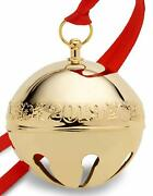 Wallace 2019 Gold Plate Sleigh Bell 30th Anniversary Edition Christmas Ornament