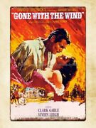 Gone With The Wind Film Movie Poster Metal Tin Sign Garage Signs