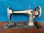 Antique Singer Sewing Machine Model 27 With Table Made 1910 Local Pick Up Only
