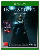 Injustice 2 Deluxe Edition Xbox One Game New Characters Premier Skin Shader Xb1