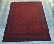 F2893 Stunning Hand Knotted Afghan Turkman Khall Mohammadi Area Rug 9'8 X 13 Ft