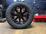 20x10 Ion 141 35 Mt Black Wheels Rims And Tire Package 8x170 Ford Excursion