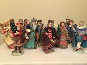 Duncan Royale Complete Set Ii Christmas Figurines, Matched Number, Signed, Coas