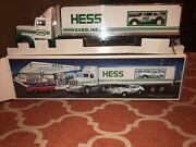 1992 Hess Trucks Toy Truck And Racers New In Box