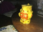Antique Staffordshire Grinning Satyr Pitcher Pearlware And Canary Yellow 1800andrsquos