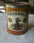 1951 Paper Label Cigar Tin Personality Cigars Made In Tampa Tobacco Stamps