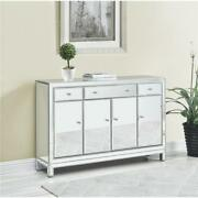 Mirrored Buffet Cabinet Antique Silver Living Dining Room Bedroom Foyer Sale 56