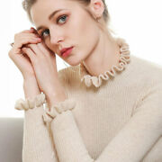 Women's Slim Knitted Flounce Turtleneck Cashmere Long Sleeve Jumpers Sweaters