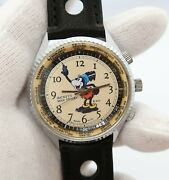 Mickey Mouse Man Friday King Diver/bradley Manual Wind Menand039s Watch820