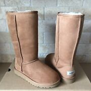 Ugg Australia Classic Tall Chestnut Suede Boots Size 5 Youth Kid Fits Women 7